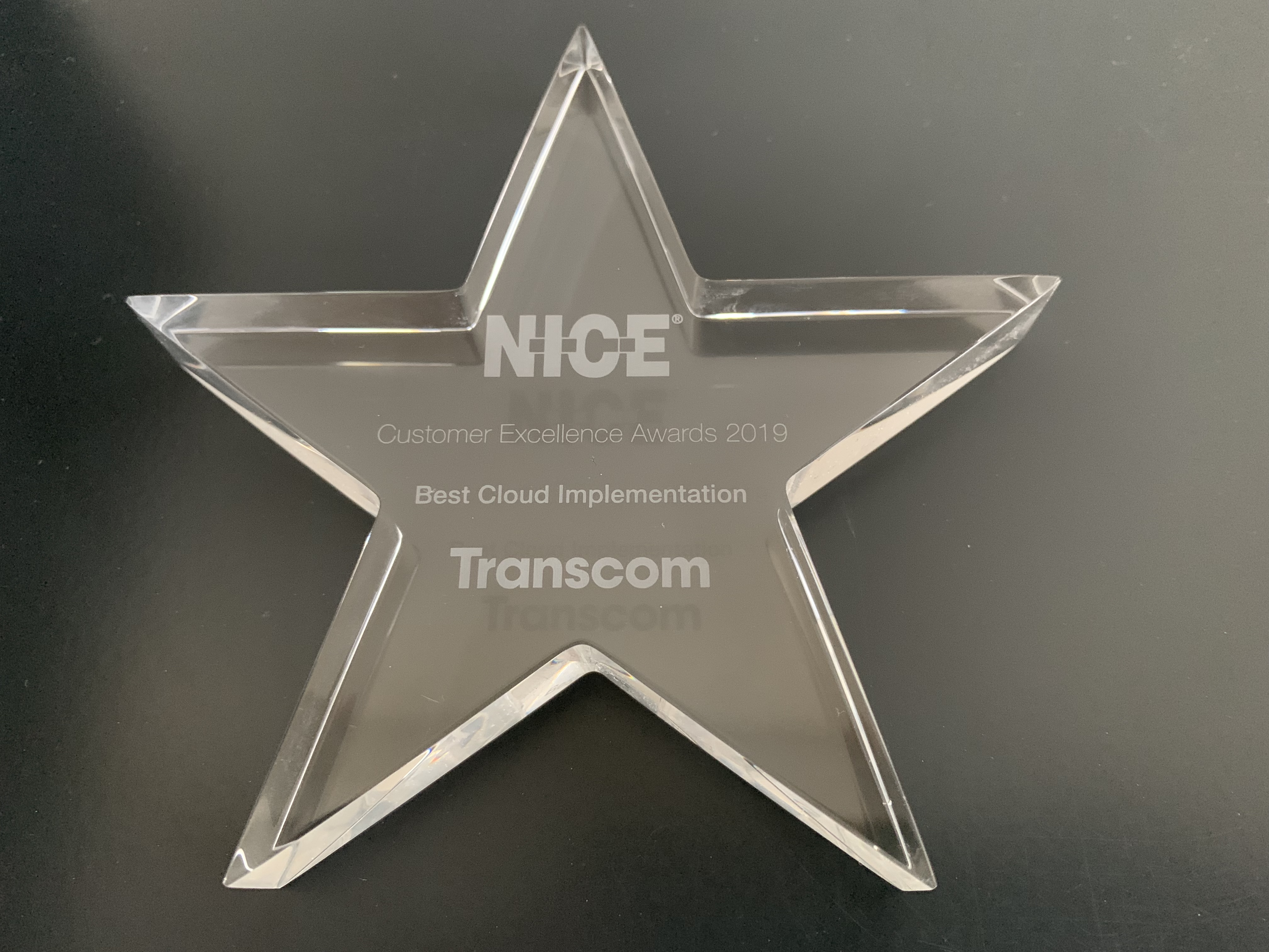 NICE Best Cloud Implementation Award